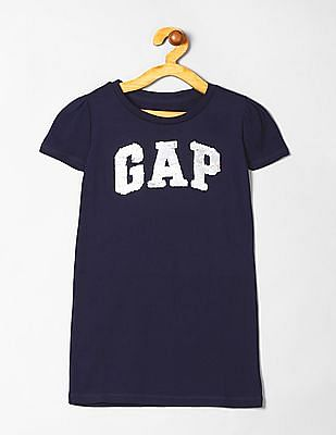GAP Girls Short Sleeve Sequinned T-Shirt Dress