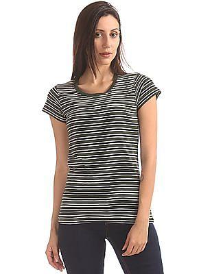 SUGR Striped Cotton T-Shirt