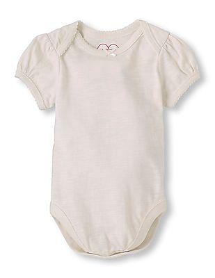 The Children's Place Baby Short Sleeve Solid Bodysuit