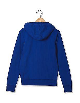 Aeropostale Appliqued Hooded Sweatshirt