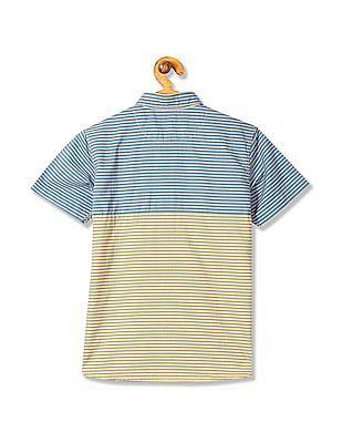 U.S. Polo Assn. Kids Boys Short Sleeve Striped Shirt