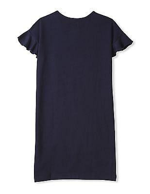 GAP Girls Sequin Graphic T-Shirt Dress