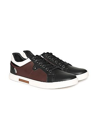 Flying Machine Contrast Trim Lace Up Sneakers