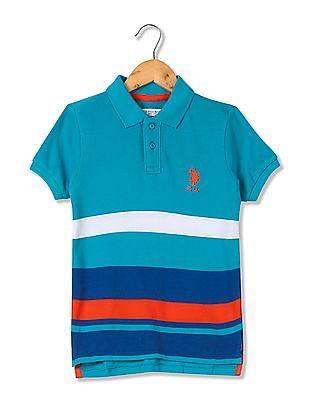 U.S. Polo Assn. Kids Boys Striped Polo Shirt