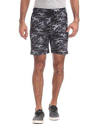 Aeropostale Drawstring Waist Camo Printed Shorts