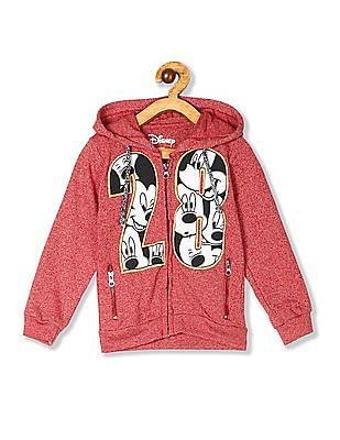 Colt Red Boys Mickey Mouse Applique Hooded Sweatshirt