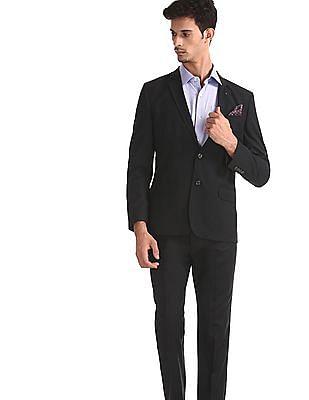 Arrow Black Notch Lapel Collar Single Breasted Suit