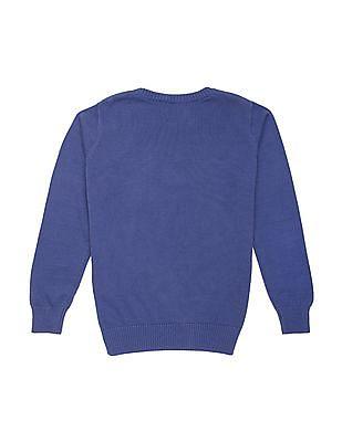 FM Boys Boys Crew Neck Printed Sweater