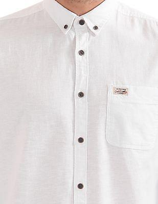 U.S. Polo Assn. Denim Co. Button Down Cotton Linen Shirt