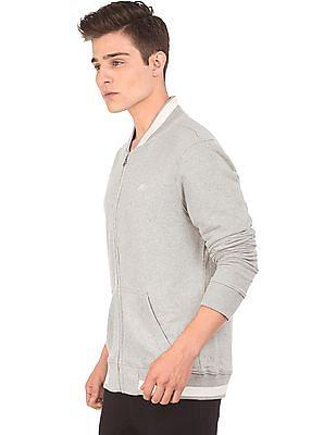 Aeropostale Fleece Lined Zip Up Sweatshirt