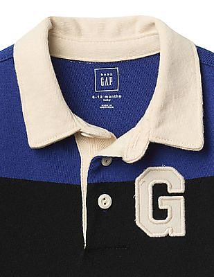 GAP Baby Blue Rugby Logo Double Layer One Piece