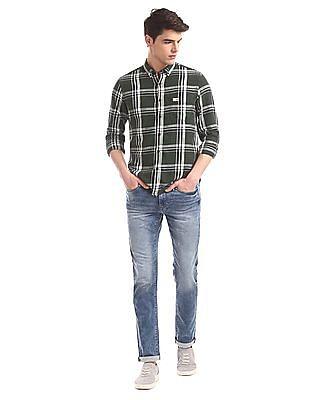 U.S. Polo Assn. Denim Co. Green Patch Pocket Check Shirt
