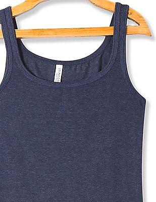 U.S. Polo Assn. Women Scoop Neck Heathered Tank Top