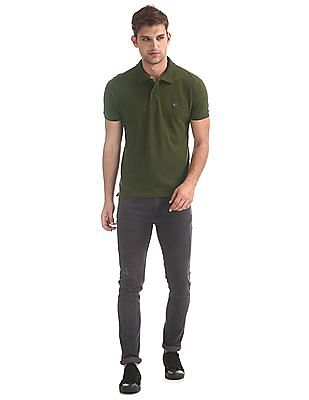 Ruggers Green Solid Pique Polo Shirt