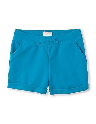 The Children's Place Girls Active Solid Knit Shorts