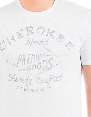 Cherokee Reverse Print Slim Fit T-Shirt
