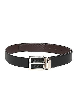 Excalibur Black And Brown Reversible Leather Belt
