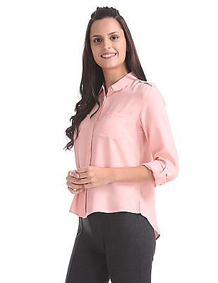 SUGR Peter Pan Collar Solid Shirt