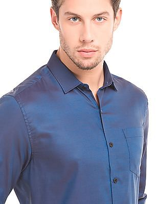 Elitus French Placket Two Tone Shirt