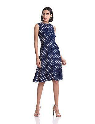 Elle Studio Polka Dot Midi Dress
