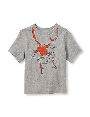 The Children's Place Toddler Boy Short Sleeve Monkey Graphic Tee
