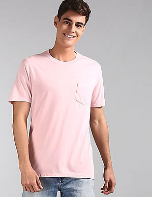 GAP Pink Vintage Wash Pocket T-Shirt