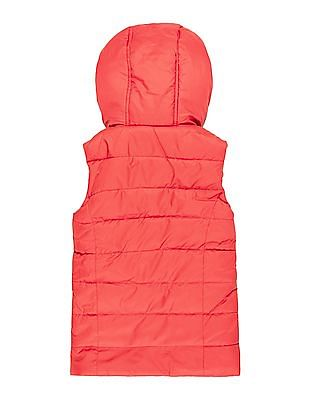 U.S. Polo Assn. Kids Girls Hooded Quilted Gilet Jacket