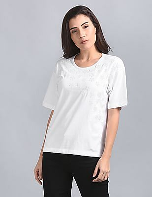GAP Star Pattern Sequin Embellishment Top