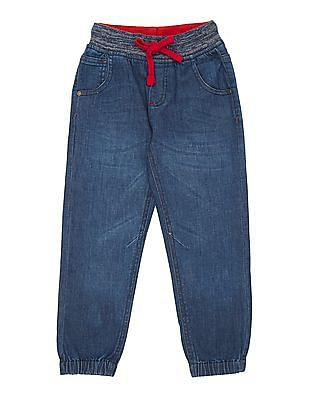 Cherokee Boys Drawstring Waist Washed Jogger Jeans