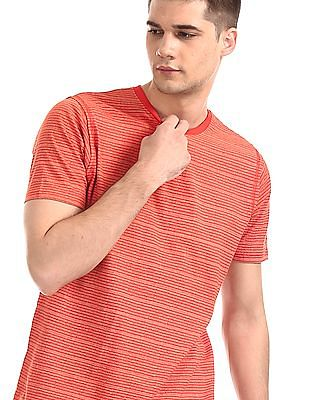 Cherokee Red Short Sleeve Striped T-Shirt