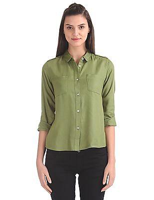 SUGR Peter Pan Collar Solid Shirt