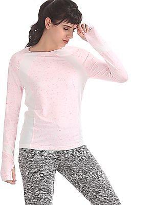 SUGR Pink Raglan Sleeve Active Top