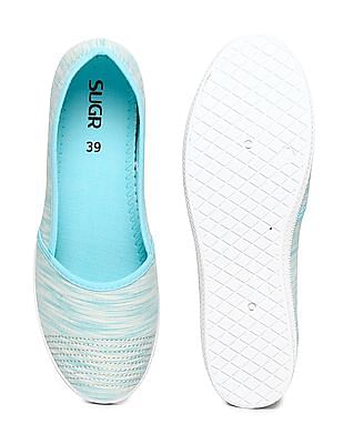 SUGR Round Toe Patterned Slip On Shoes
