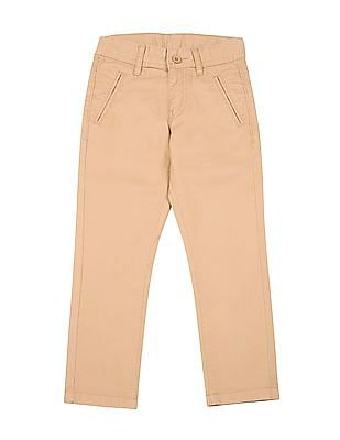 FM Boys Boys Slim Fit Cotton Stretch Trousers