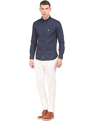 U.S. Polo Assn. Button Down Collar Printed Shirt