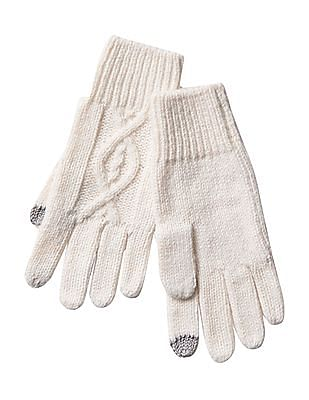 GAP Diamond Cable Knit Tech Gloves