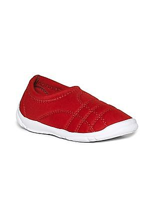 Colt Red Boys Quilted Slip On Shoes