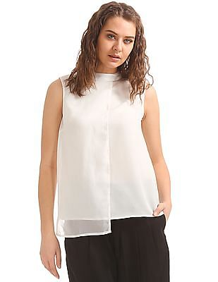 Elle Studio Cut Out Back Layered Top
