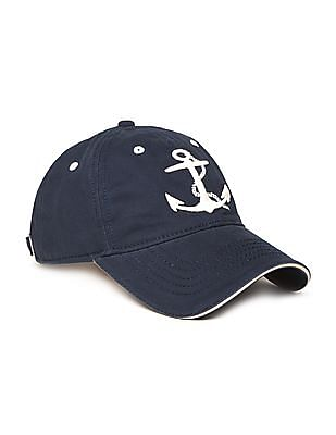 Flying Machine Anchor Embroidered Panelled Cap