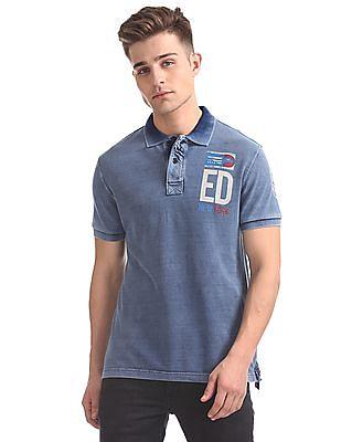 Ed Hardy Washed Pique Polo Shirt