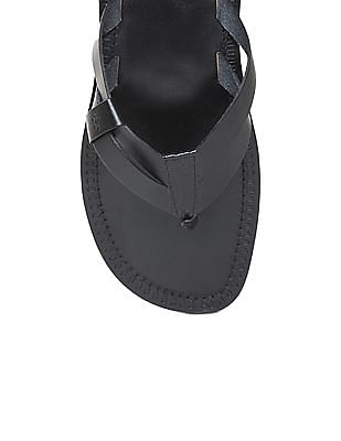 Arrow Solid Leather Flip Flop