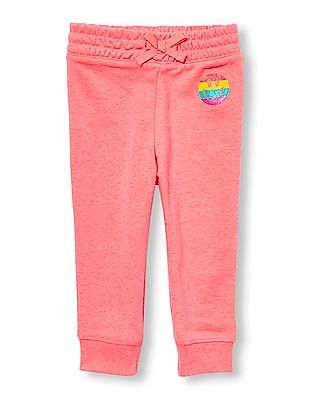 The Children's Place Toddler Girl Active Glitter Graphic Jogger Pants