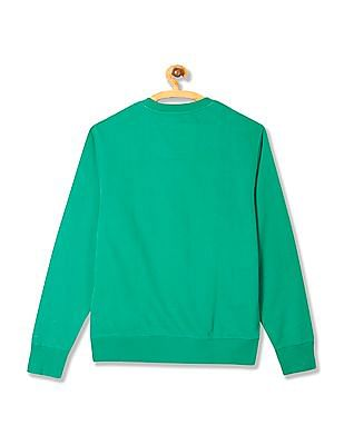 Izod Crew Neck Embroidered Sweatshirt