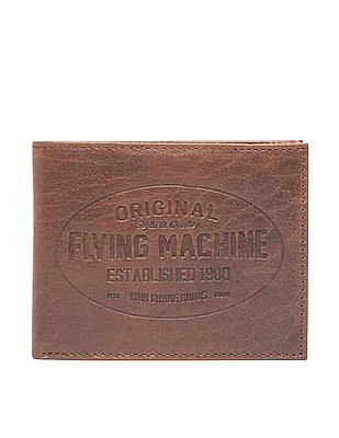 Flying Machine Bi Fold Textured Leather Wallet