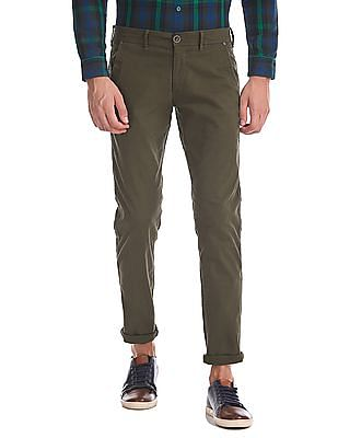Cherokee Modern Slim Fit Flat Front Trousers