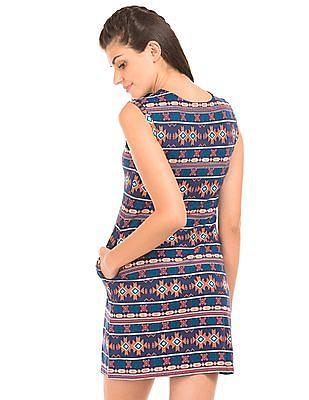 Cherokee Aztec Print Mini Dress