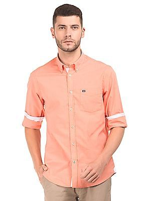 Arrow Sports Button Down Micro Check Shirt