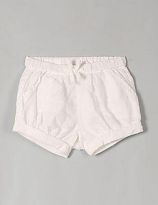GAP Baby White Dotty Bubble Shorts