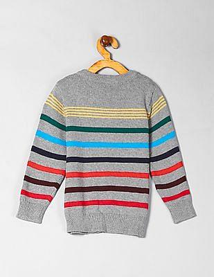 GAP Toddler Boy Crazy Stripe Crew Neck Sweater