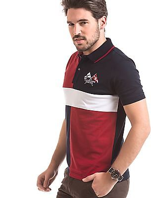Izod Colour Block Slim Fit Polo Shirt